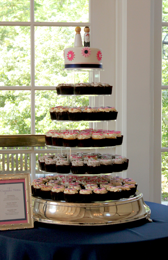 Cupcake tower.pink.blue