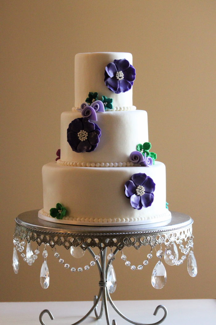 Whimsy Purple Wedding Cake