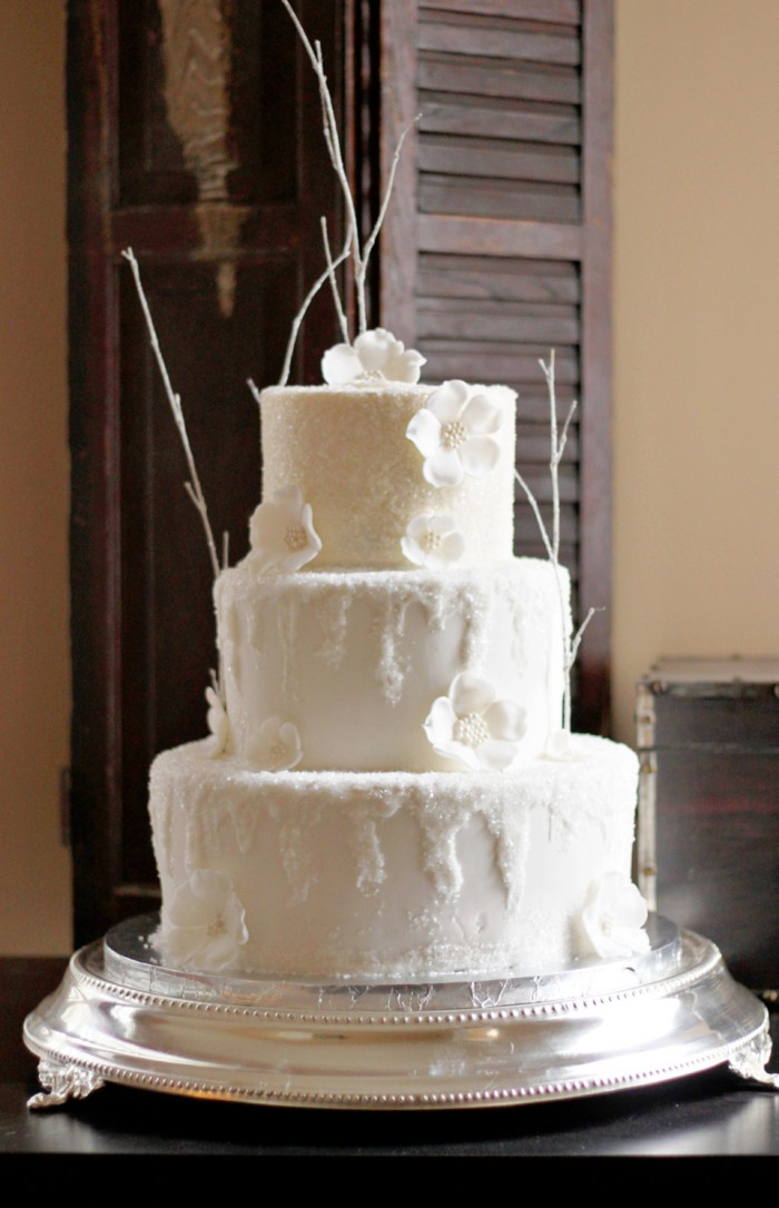 Icy Winter Wedding Cake