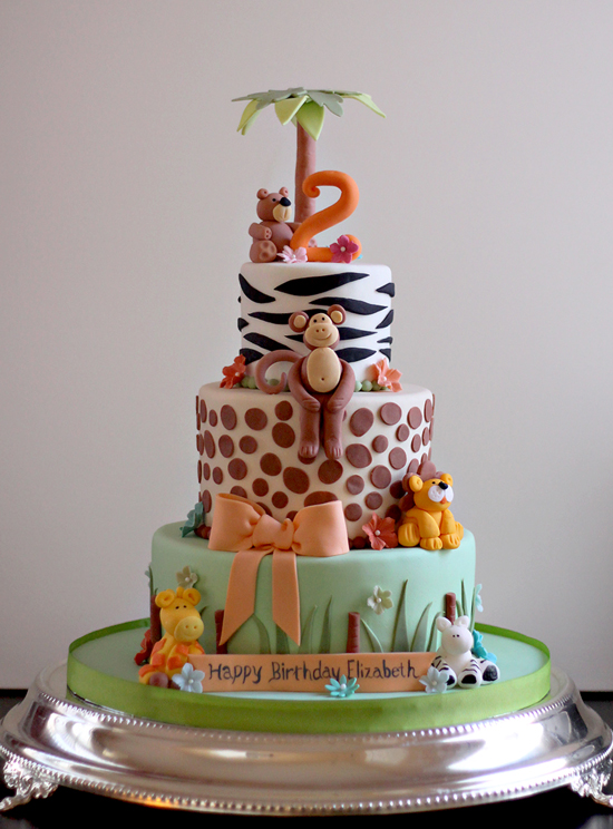 Animal Birthday Party Cake