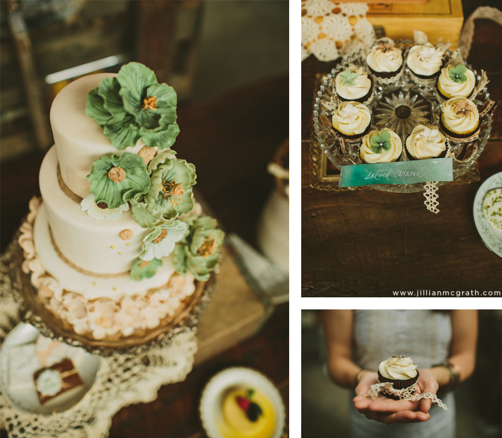 Warehouse Bridal Shower. The Couture Cakery.