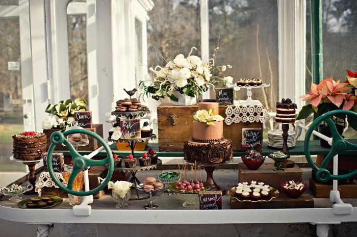 The Couture Cakery - Greenhouse Sweet table