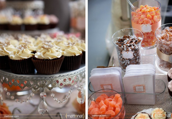 The Couture Cakery - Sweets Table. Photo by MattnNat