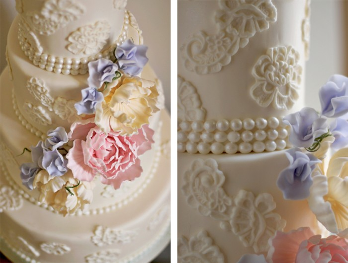 The Couture Cakery Wedding Cake Lace And Sugar Flowers