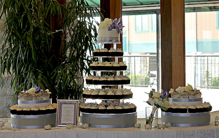 The Couture Cakery -  Cupcake tower for Wedding