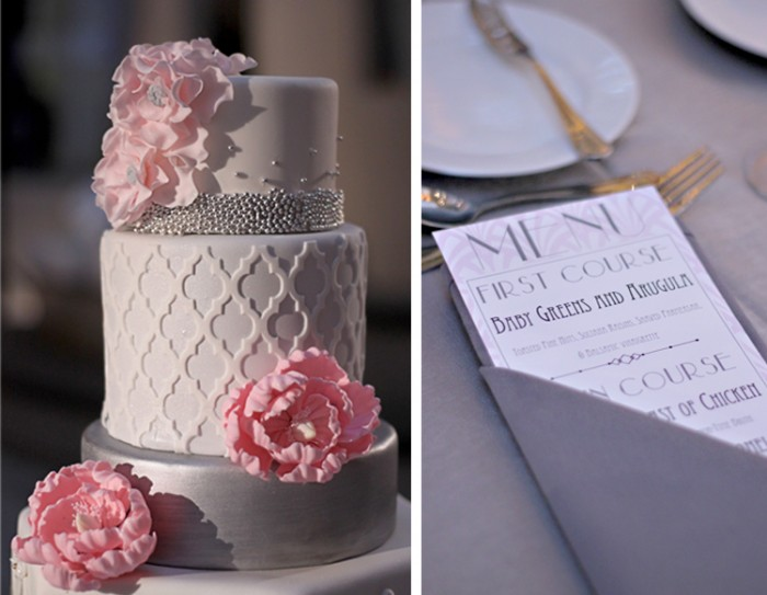The Couture Cakery - Art Deco, quatrefol wedding cake