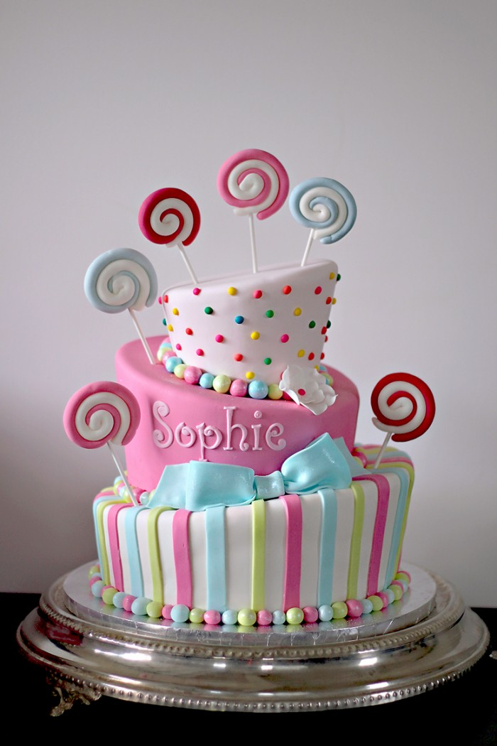 Sophies Sweet Candy Themed Bat Mitzvah Cake The Couture Cakery