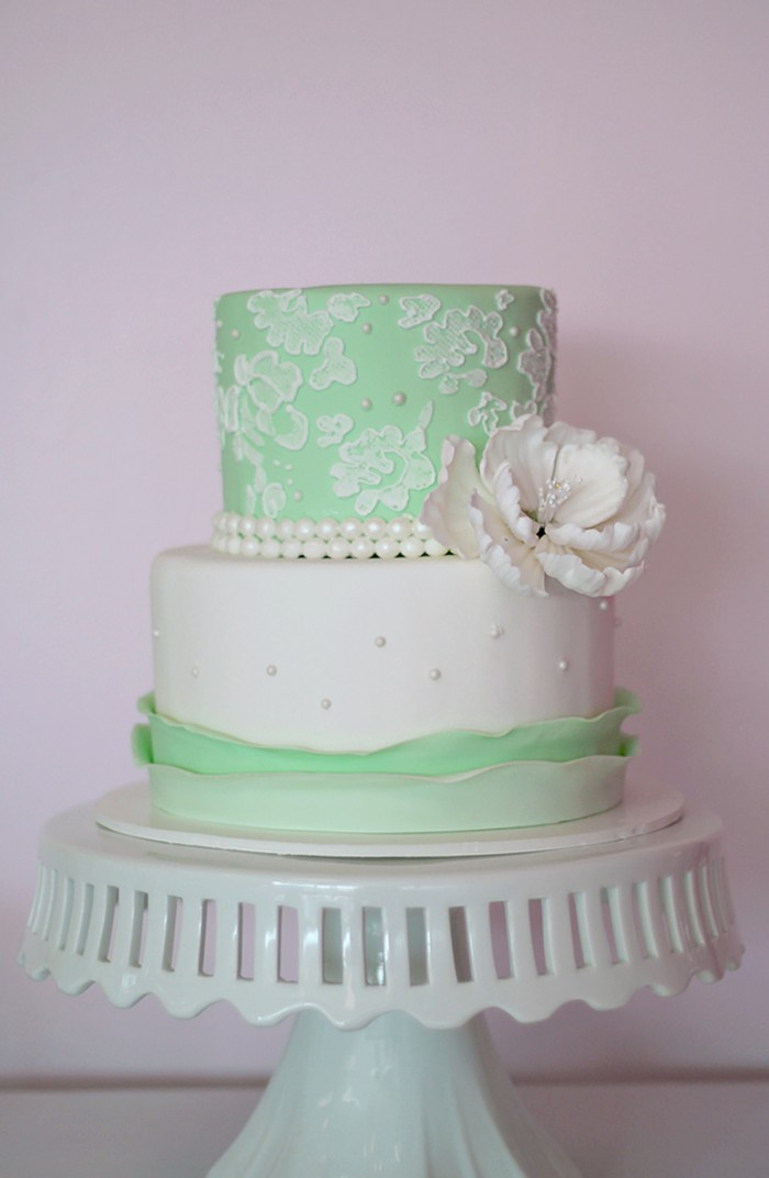 Lace Amp Peony Birthday Cake The Couture Cakery