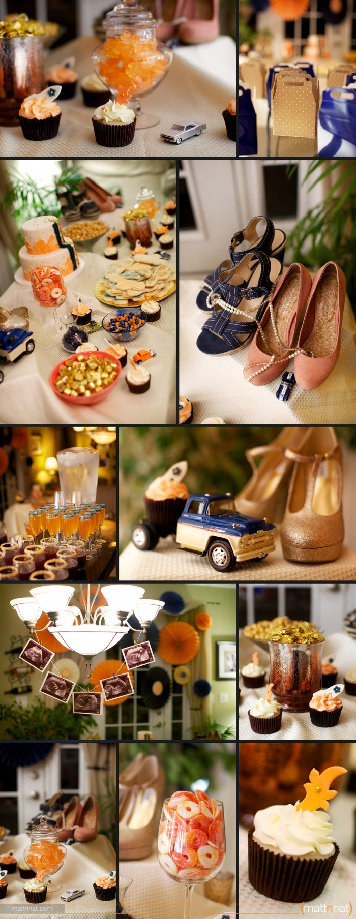 Hot-Rods-or-Heels-Themed-Gender-Reveal-Party-Coral-Navy-06