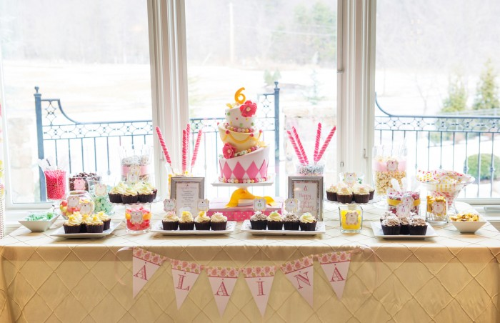 The Couture Cakery - Alaina's 6th birthday sweet's table and cake