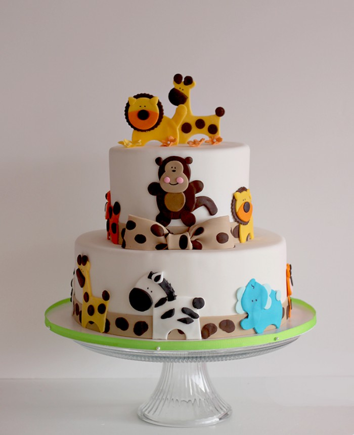 Perfect Safari Baby Shower Cake