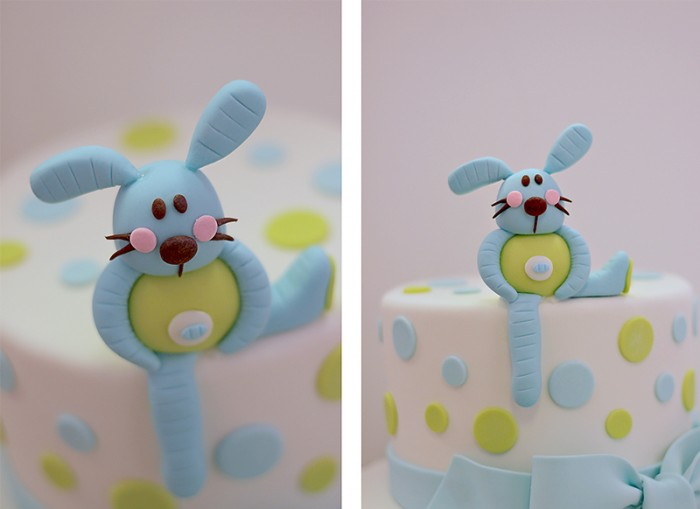 The Couture Cakery - bunny baby shower cake