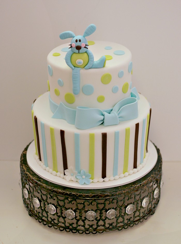Cake Flavor Ideas For Baby Shower : Bunny Baby Shower Cake The Couture Cakery