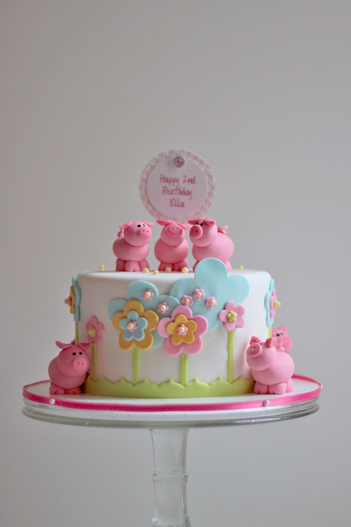 Oink Oinkellas 2nd Birthday Cake The Couture Cakery