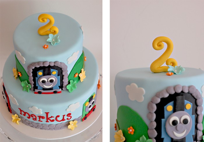Markuss 2nd birthday cake Thomas the Train The Couture Cakery