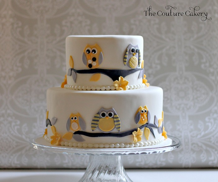 High Quality Owl Baby Shower Cake