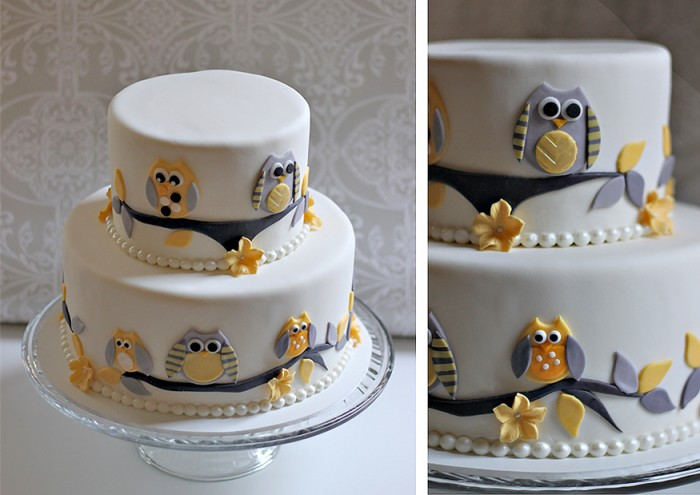 Owl Baby Shower Cake The Couture Cakery