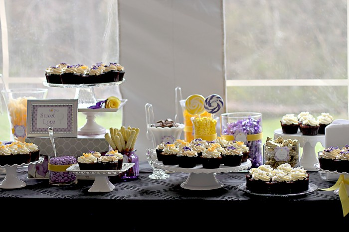 The Couture Cakery - Wedding dessert table Moonstone Manor