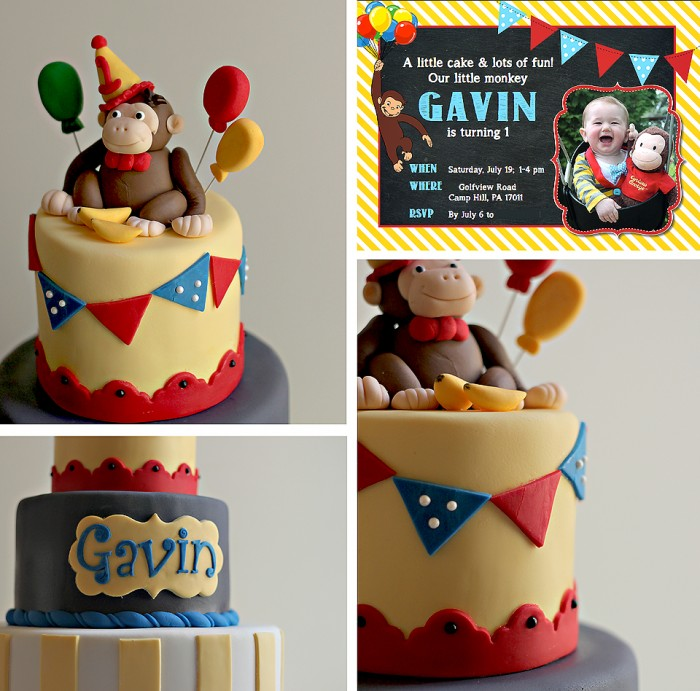 The Couture Cakery - Monkey Birthday Cake