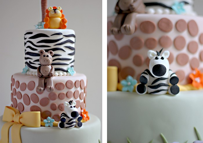 The Couture Cakery - Jungle Baby Shower Cake