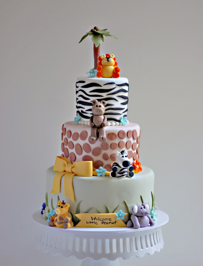 The Couture Cakery   Jungle Baby Shower Cake