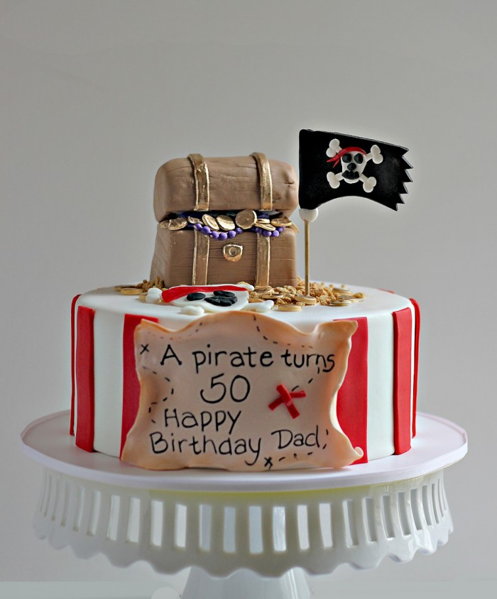The Couture Cakery - A Pirate Turns 50 Birthday Cake