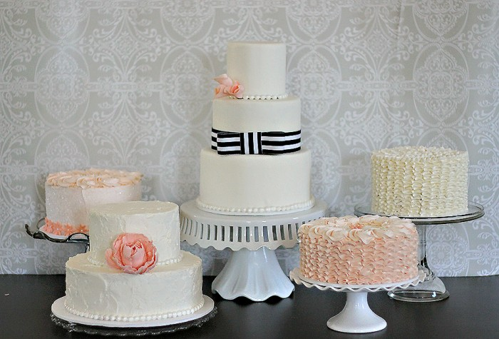 The Couture Cakery - Ryan and Geetha's wedding cakes