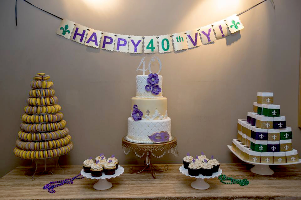 Vys Mardi Gras Birthday Celebration The Couture Cakery