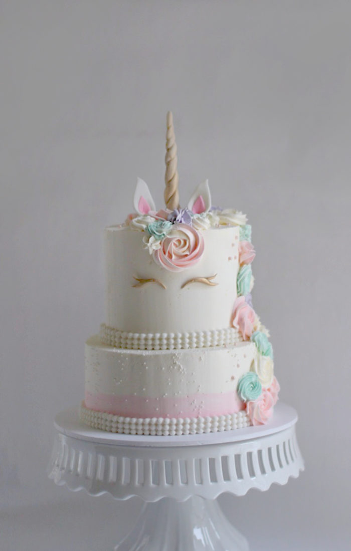 Lizzies Unicorn Birthday Cake