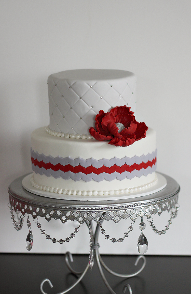 red black and silver wedding cake wedding cake gallery the couture cakery 19109